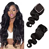 Brazilian Virgin Body Wave Human Hair 4x4 Lace Closure Freestyle 100 Unprocessed Echte Haar 130% Dichte Silk Top Lace 14inches