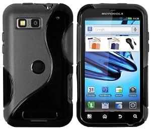mumbi TPU Silikon Schutzhülle für Motorola DEFY/DEFY+ schwarz