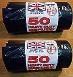 Mycs 100Heavy Duty nero rifiutare sacchi Strong spessi sacchetti della spazzatura immondizia