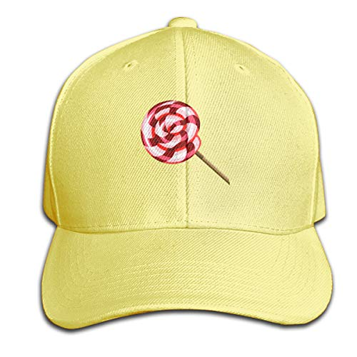 Osmykqe Lollipop Leichte atmungsaktive Outdoor-Laufmütze Athletic Baseball Fitted Caps für Herren - Baseball-cap Kleinkind Boston