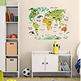Oren Empower World Travel Wall Sticker (Finished Size On Wall - 95(w) X 73(h) Cm)