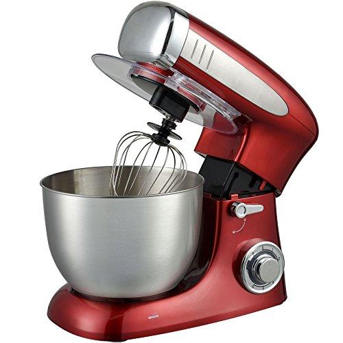 Syntrox Germany KM de 1300W Red Robot de cuisine Pétrin Mixeur en acier inoxydable à 6,5L,...