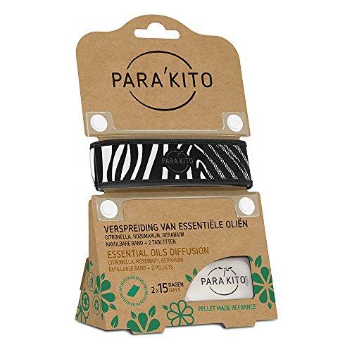 Para\'kito Wristband/Armband für Erwachsene zum Verteilen von ätherischen Ölen, zebra