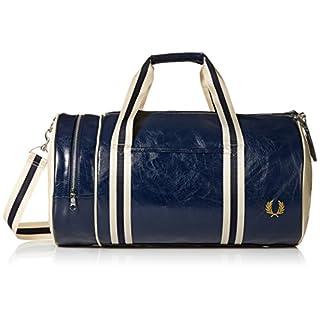 Fred Perry Men's Classic Barrel Bag Duffel, Navy/Ecru, One Size