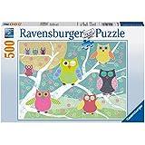 Ravensburger 14362 - Bunte Nachteulen, 500 Teile Puzzle