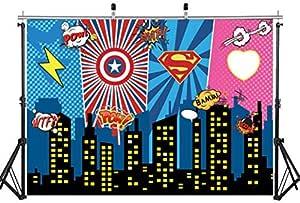 Superhero City Background Camera Photo