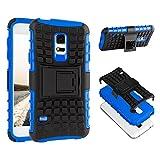 ECENCE Handyhülle Schutzhülle Outdoor Case Cover kompatibel für Samsung Galaxy S5 i9600 S5 Neo S5 Plus Handytasche Blau 22020404