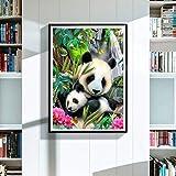 Gmgqsago Diamant Peinture, Lovely Panda DIY 5d Full Diamant Décoration murale Peinture au point de croix Home Decor