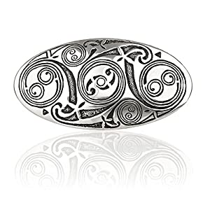 Celtic Spirals Haarspange mit Spiralmustern und keltischen Ornamenten