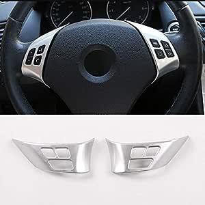 Diyucar Für X1 E84 2010 2013 Abs Chrom Auto Lenkrad Knopf Rahmen Für E90 E92 3er Serie 2005 2012 Zubehör Auto