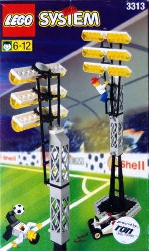 LEGO System Fußball 3313 Flutlichtmasten