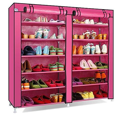 Blueidea® Portable 7-Tier Scarpiera Shoes Armadietto Immagazzinaggio Organizer Mensola del Pattino
