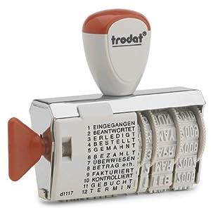 Trodat Wedo 511117  - Sello con Gomas giratorias con números y Letras  Importado de Alemania