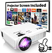 """DR. J Professional Full HD 1080P [Bluetooth] Supported Mini Projector 170"""" Display - LED Video Projector,"""