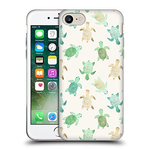 Offizielle Tangerine-Tane Schildkröten Texture & Muster Soft Gel Hülle für Apple iPhone 6 / 6s Schildkröten
