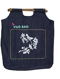 Multipurpose Washable Denim Grocery Bag/Fruit Vegetable Bag/General Use Bag/Shopping Bag/Luggage Bag | DCGW0-10