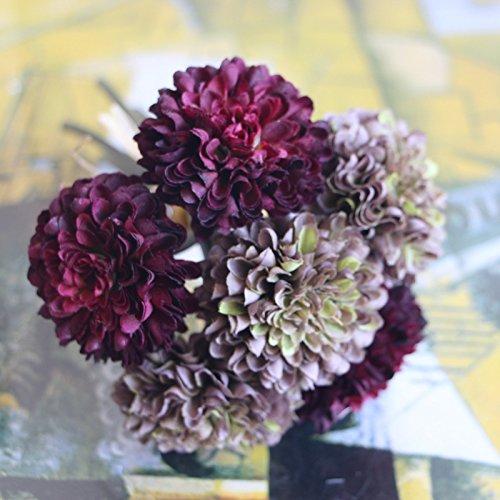 GSYLOL 1 Bunch Künstliche Blume Gefälschte Ball Daisy Hochzeit Blume Floristik Party Hause Dekorative 5 Farben, - Blume-bälle Daisy