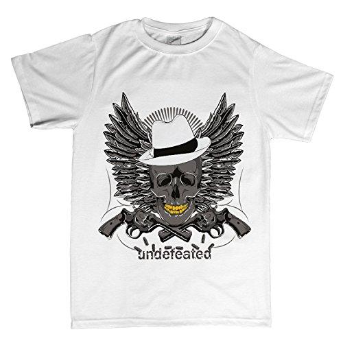 ZDesign Undefeated T-Shirt | Unbesiegt | Bedruckt printed Motiv Logo | Größe XS-4XL | Ideales Geschenk Weiß