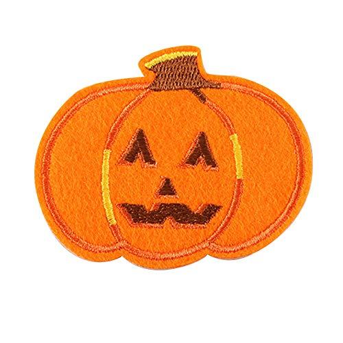 DaoRier 10pcs Kürbis Kleidung Stoff Aufnäher Stickerei Nähen für DIY Halloween Kinder Kostüme