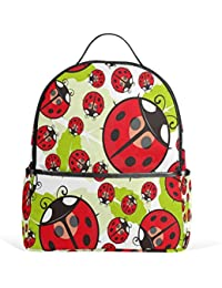 50d86d9c79cf use4 Cartoon Ladybug Polyester Backpack School Travel Bag
