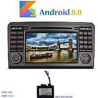 """Android 8.0 Car Autoradio, Hi-azul In-dash 2 Din 8-Core 64Bit RAM 4G ROM 32G Car Radio 7"""" Autonavigation Kopfeinheit Car Audio mit 1024 * 600 Multitouch-Bildschirm und DVD Player Moniceiver für Mercedes-Benz ML-W164/ W300/ ML350/ ML450/ ML500/ GL-X164/ GL320/ GL350/ GL450/ GL500 Unterstützen Lenkradkontrolle (mit Glasfaser-Decoder)"""