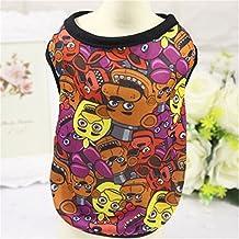 Kingnew Niedliche, vestiti vestito da giubbotto T Shirt Abbigliamento indumenti per cuccioli di cane gatto animale domestico di tipo E, S