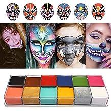 Cara Cuerpo Pintura Imagic marca Flash 12 colores caso Halloween Fancy  Dress – Pintura al óleo 22f342d73f2