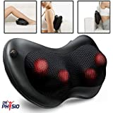 Dr Physio (USA) Shiatsu Cushion Full Body Massager with Heat for pain relief Massage Machine - Swiss Relaxation therapy (BLACK)