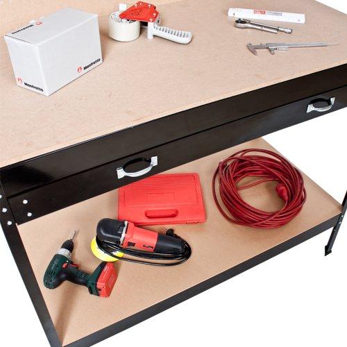 TecTake Werkbank 120 x 60 x 156 cm aus Metall mit Werkzeugwand - 6