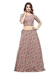 Inddus Cotton Lehenga Choli (IND-IFW-76_Beige_Free Size )