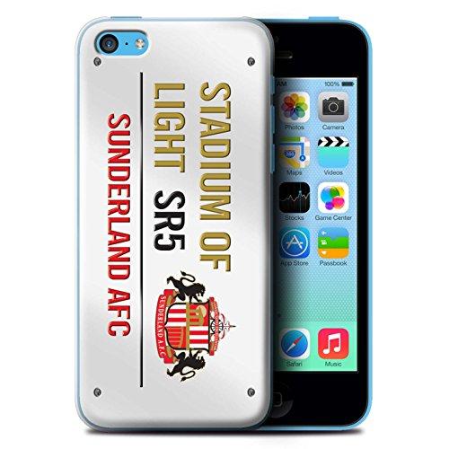 Officiel Sunderland AFC Coque / Etui pour Apple iPhone 5C / Pack 6pcs Design / SAFC Stadium of Light Signe Collection Blanc/Or