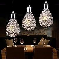 3 Lights Luxury Bulb Design Modern K9 Crystal Pendant Light , 220-240V