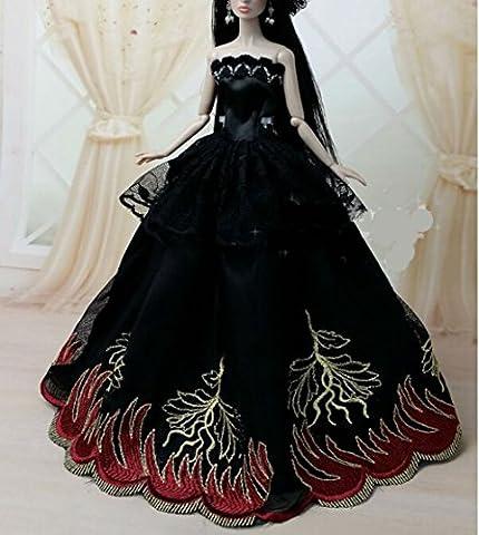 AK010 Abendkleider: Schöne und modische Handgefertigte Puppe Kleidung/(Puppen nicht im Lieferumfang enthalten) (schwarz 2)