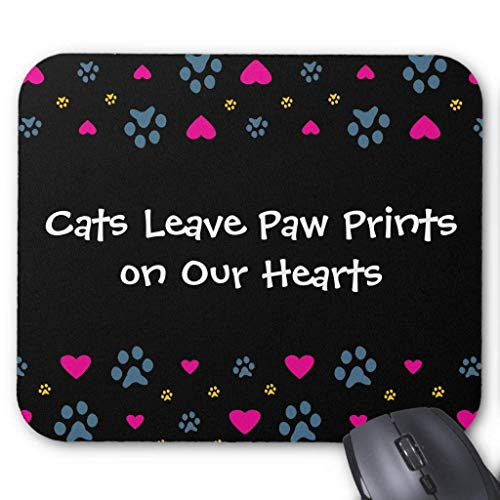 Cats Leave Paw Prints On Our Hearts Mouse Pad (Paw Print Cougar)