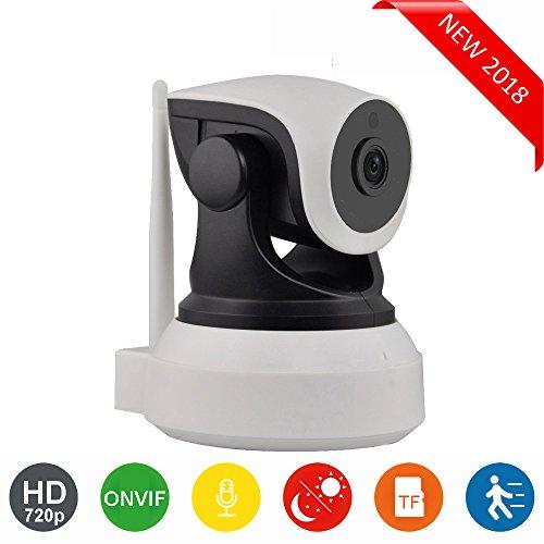 Cámara IP WiFi HD para la vigilancia de interiores con sensor de movimiento y visión nocturna, compatible con iOS y Android. DIYtech (P2P, Pan/Tilt, 720P, ONVIF, slot micro SD) Nueva versión