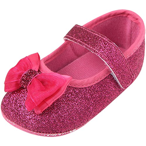 Fire Frog  Baby Mary Jane Shoes, Baby Mädchen Lauflernschuhe Hot Pink
