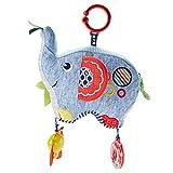 Fisher-Price FDC58 Kleiner Spiel Elefant, Baby Spielzeug Plüsch Greifling für Babys mit geschlossener Verpackung, ab 0 Monaten