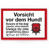 Vorsicht Hund mehrsprachig Angry Style