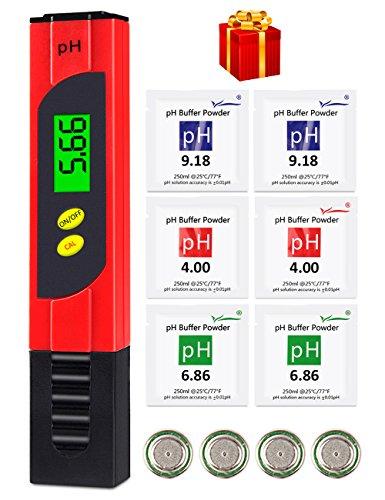 Digital-ph-skala (PH Messgerät, MrLi PH Wert Messgerät Digital PH Meter ATC Funktion PH Wert Pool Messgerät Wasser mit 0,01 Auflösung und Messbereich für Haushalt Trinkwasser Hydroponic Aquarium Spa Pool (2018 Update))