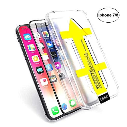 Preisvergleich Produktbild Ausgeglichenes Glas-Schirm-Schutz für iPhone 7 / 8 Blase Kostenlose 3D-Touch mit Schnell Einfache Installation Guide Frame (iPhone 7 / 8)