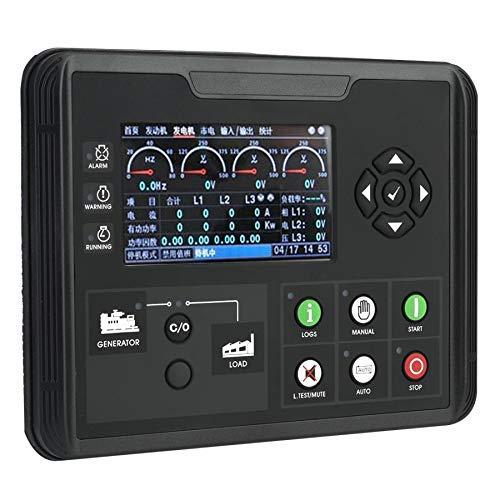 SISHUINIANHUA Display LCD da 4,3 Pollici Set Gruppi elettrogeni Parametri Diesel/Benzina/Gruppo elettrogeno Monitor Parti del generatore 24V DC70D