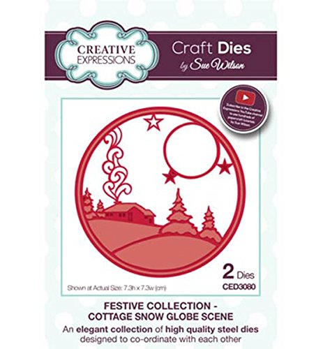 (Creative Expressions - Festive Collection - Cottage Snow Globe Szene sterben)