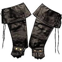 KBO81995 Gamaschen, schwarz, für das Weihnachtsmann-Kostüm oder für den Gestiefelten Kater