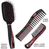 [Sponsored]GUBB HAIR COMBS & BRUSH COMBO (Paddle Hair Brush For Straightening, Scottish Dressing Comb & Scottish Small Comb...