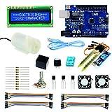 Arduino Casa Domotica Smart Greenhouse Project Set, Arduino kit Completo Italiano, Arduino UNO R3, DC Water Pump, 16x2 Character LCD Display, Sensor Module, DHT11