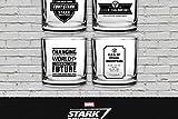 SD Toys–Pack 4Verres Marvel Iron Man Stark Industries Set 1–8435450202438