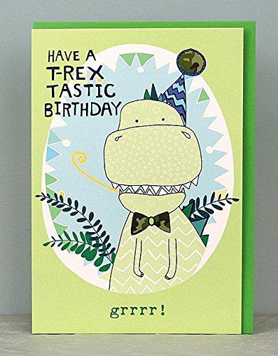 Boys T Rex Dinosaur Birthday Cards By Molly Mae TS25