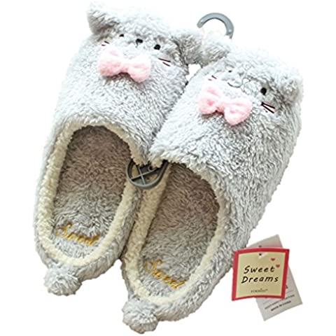 Minetom Donne Pantofole Calde Autunno Inverno Morbido