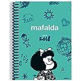 Granica Mafalda - Agenda anillada 2018, color verde