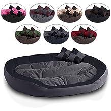 BedDog 4 en 1 SABA antracita/gris XXXL aprox. 150x120cm colchón para perro, 7 colores, cama para perro, sofá para perro, cesta para perro